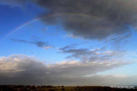 No fim da jornada os céus agraciaram-nos com um belo Arco Íris.  Tudo está bem quando acaba bem :)